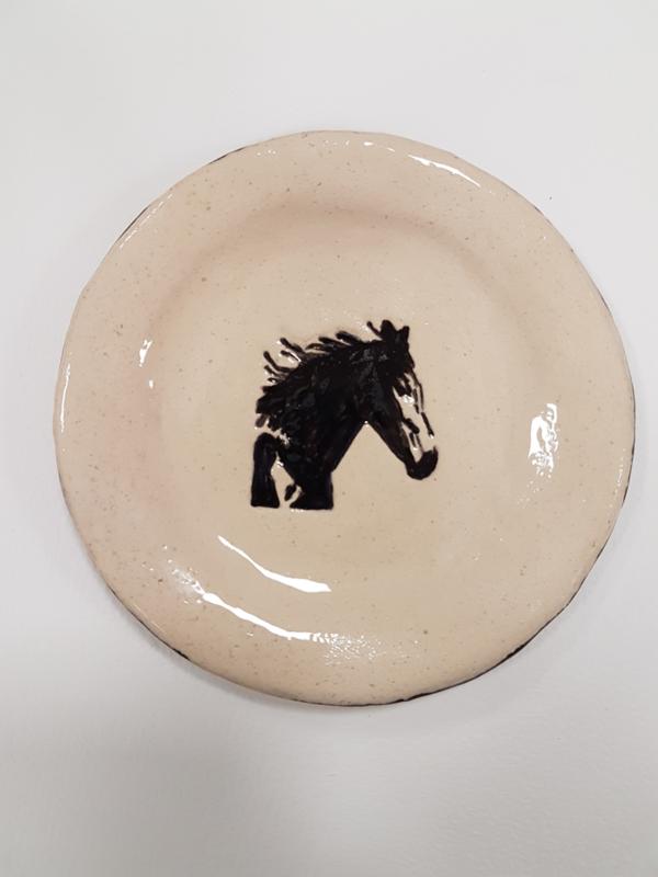Bordje / schaaltje paard 17 cm