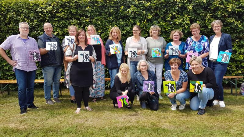 Resultaten juni 2017 team uitje op locatie workshop schilderen