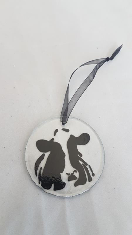 Glashänger mit einer Kuh