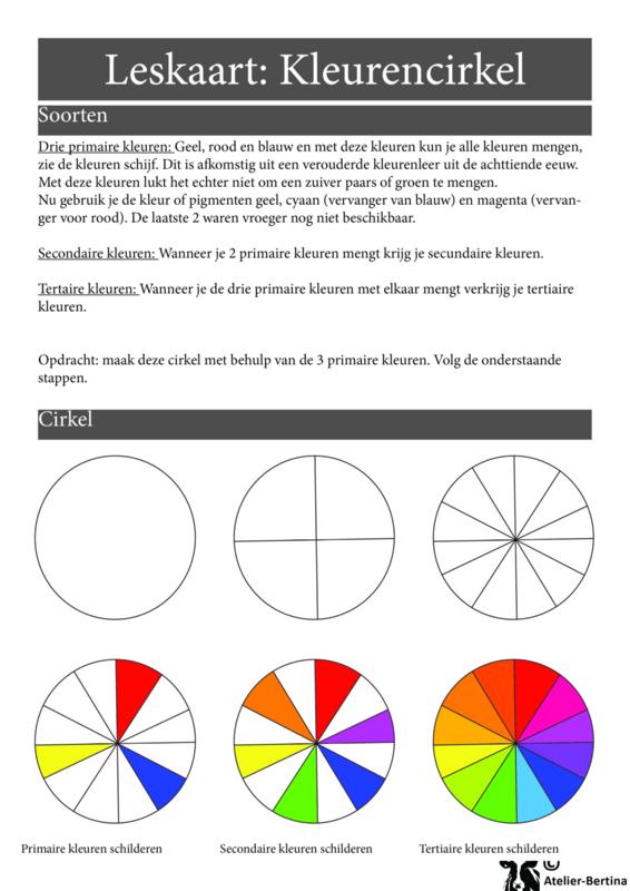 Stap voor stap tutorial: Kleurencirkel maken met acryllverf