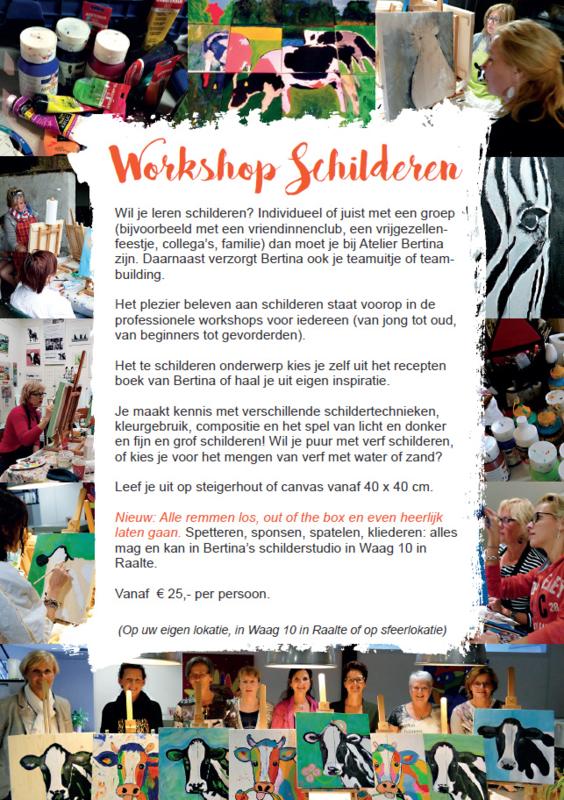 Workshop schilderen op uw locatie (datum in overleg)