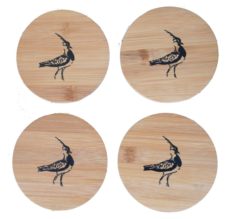 4 x coasters lapwing