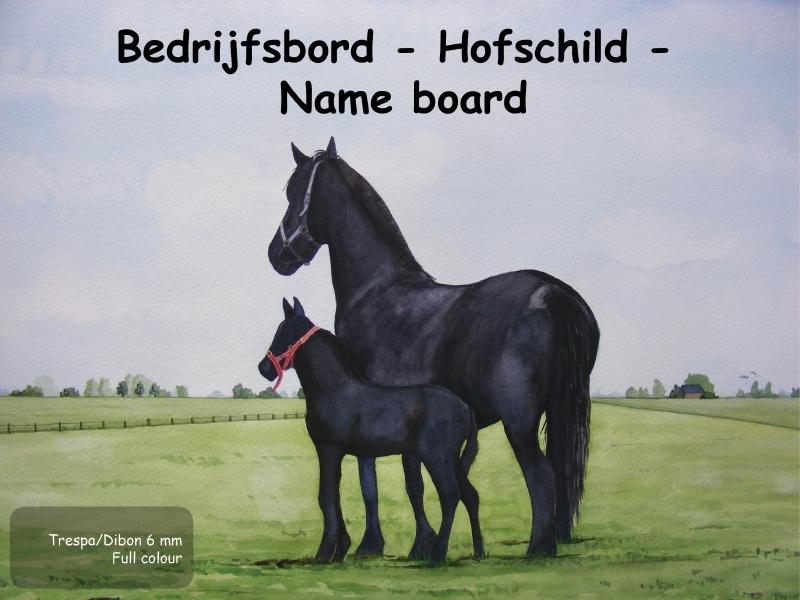 Pferd Hofschild Design  5
