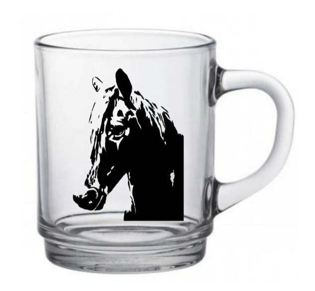 Paarden theeglas