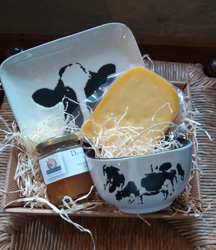 Koeien kunst en verse producten van New Jersey koeien
