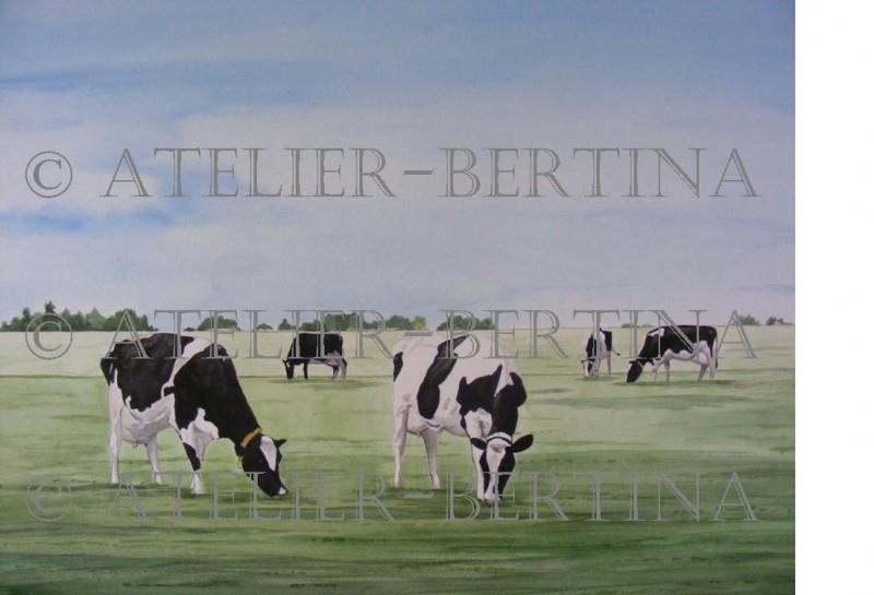 Cows waterpainting