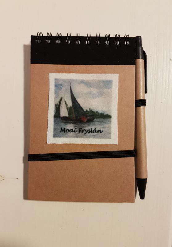 Notitie boekje skûtsje zeilboot (Moai Fryslân)