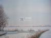 Aquarel winter/sneeuw landschap schilderij