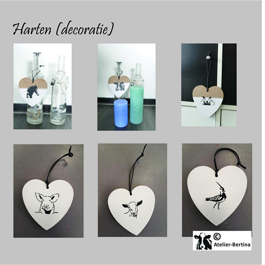hart decoratie koe paard geit varken schaap kievit vogel zeehond varken kunst