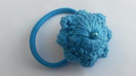 Haarelastiek Zeeuwse Knop blauw