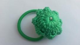Haarelastiek Zeeuwse Knop groen