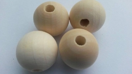 Houten kraal blank ca. 25mm per 4st