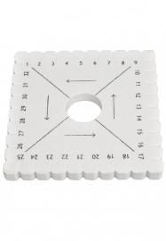 Vlechtschijf vierkant 10cm