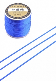 Satijnkoord  ± 1mm per meter: kobaltblauw