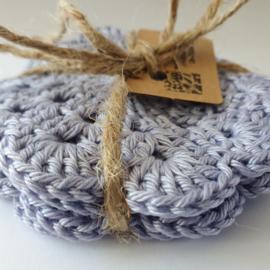 Set 4st. onderzetters lavendel