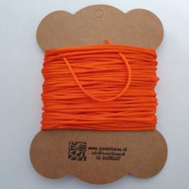 Satijnkoord  ± 1,5mm ca. 10 meter:  oranje