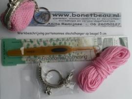 Doe-het-zelf pakket portemonnee-sleutelhanger 5 cm