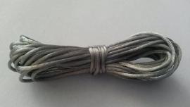 Satijnkoord ± 1mm zilvergrijs 5 mtr