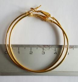 Creolen goudkleurig 50mm