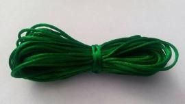 Satijnkoord ± 1mm groen 5 mtr.