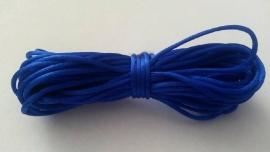 Satijnkoord ± 1mm kobaltblauw