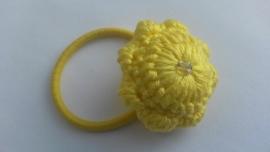Haarelastiek Zeeuwse Knop geel