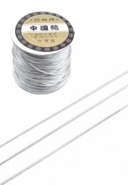 Satijnkoord  koord ± 1mm per meter: zilvergijs