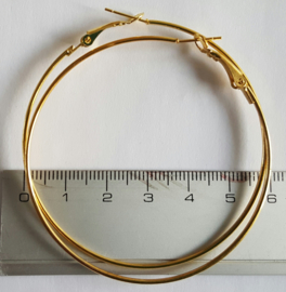 Creolen goudkleurig 60mm