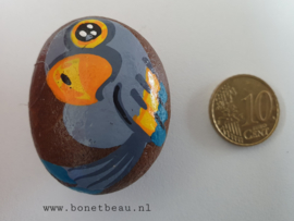 Stenen magneet vogel Grijs