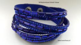 Wikkelarmband kobalt blauw