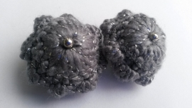Broche Zeeuwse knop grijs-zilver