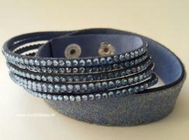 Wikkelarmband Jeans-blauw