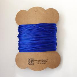 Satijnkoord  ± 1 5mm ca. 10 meter: kobaltblauw