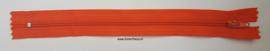 Kunststof rits oranje ca. 19cm