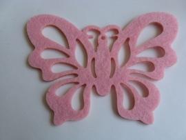 Vilten onderzetter vlinder