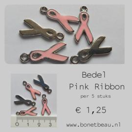 Bedel Pink Ribbon per 5 stuks