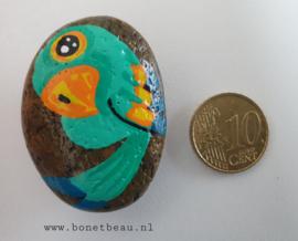 Stenen magneet vogel Groen