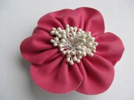 Broche / haarspeld roze