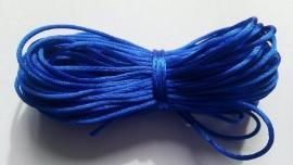 Satijnkoord  ± 1mm per 10 meter: kobaltblauw