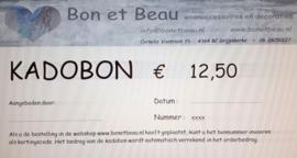 Kadobon € 12,50