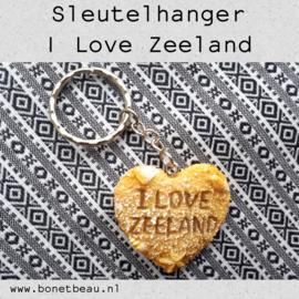 Sleutelhanger I love Zeeland
