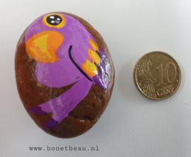 Stenen magneet vogel Paars