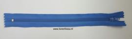 Kunststof rits blauw ca. 19cm