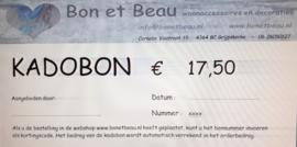 Kadobon € 17,50