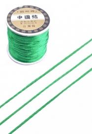 Satijnkoord  ± 1mm per meter:  groen