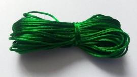 Satijnkoord ± 1mm per 10 meter: groen