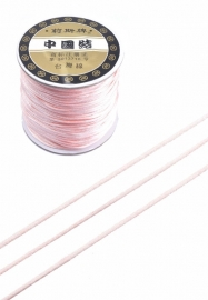 Satijnkoord  ± 1mm per meter: licht rose