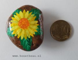 Stenen magneet bloem Geel