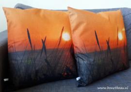 Kussenhoes Bon et Beau Ondergaande Zon 1