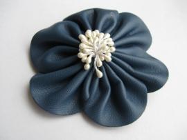 Broche / haarspeld blauw